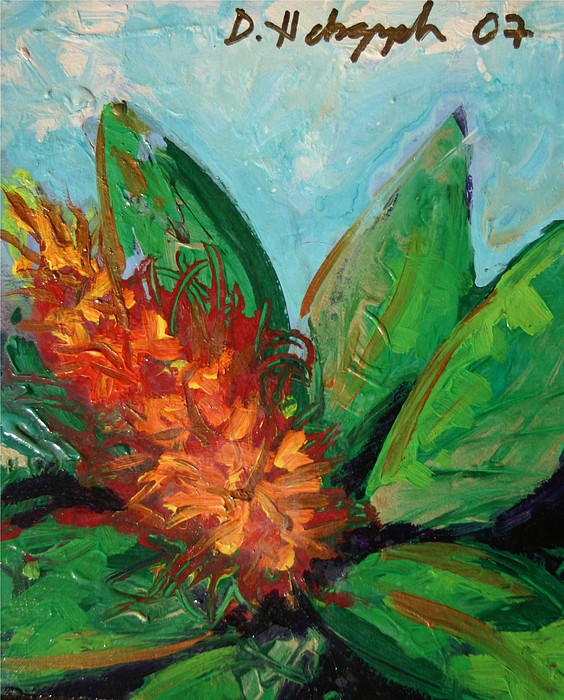 Exotic Painting - Flora Exotica B by Dodd Holsapple