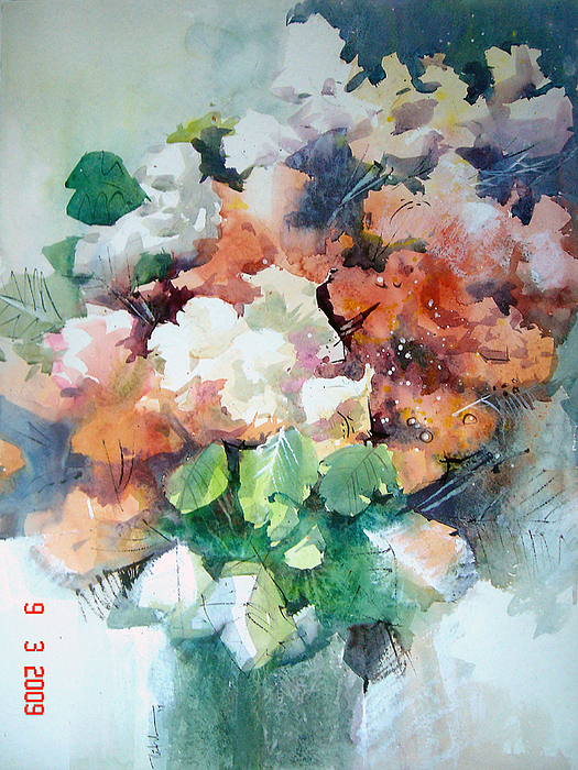 Flowers Painting - Floral Outburst by Alcoseba