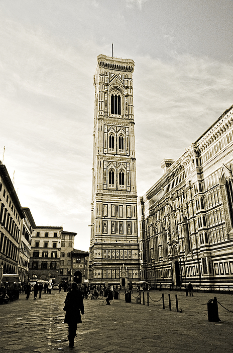 Giotto Photograph - Florence Square With Giotto by Emilio Lovisa