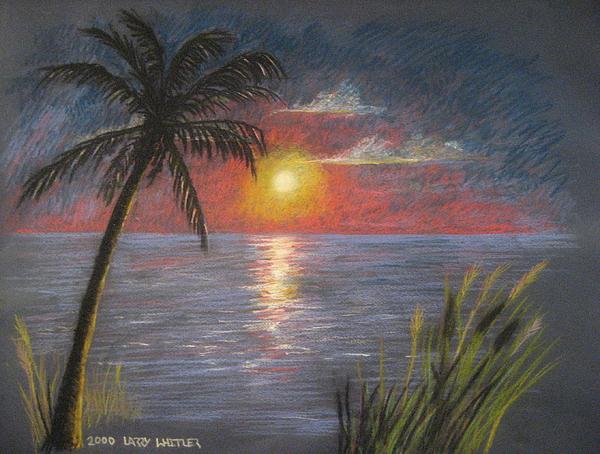 Sunset Pastel - Florida Sunset by Larry Whitler