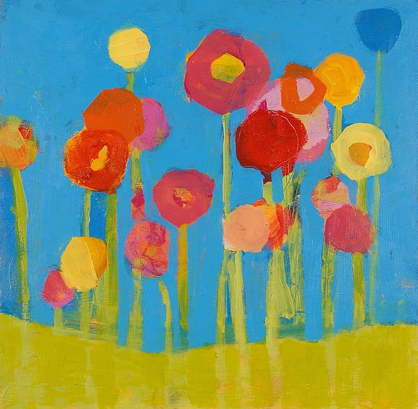 Kids Room Painting - Flower Garden by Laurie Breen