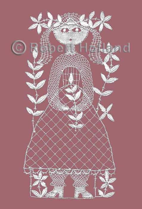 Children Digital Art - Flower Girl 1 by Robert Hofland