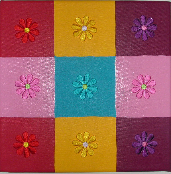 Flower Power Painting by Gay Dallek