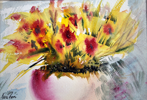 Paintings Painting - Flower Study IIi by Neva Rossi
