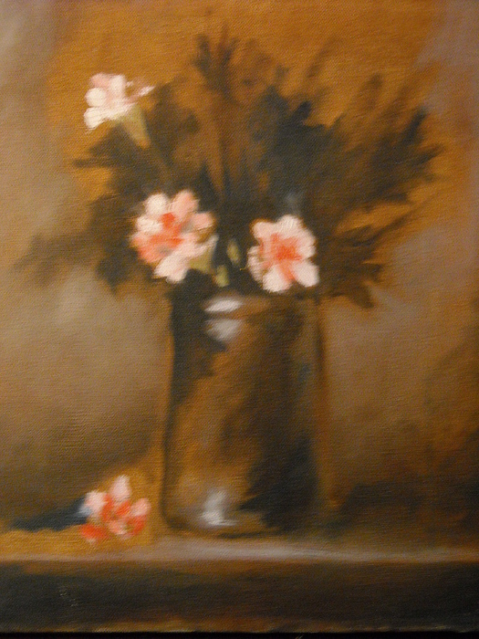 Flower Study Painting by R Zulienn