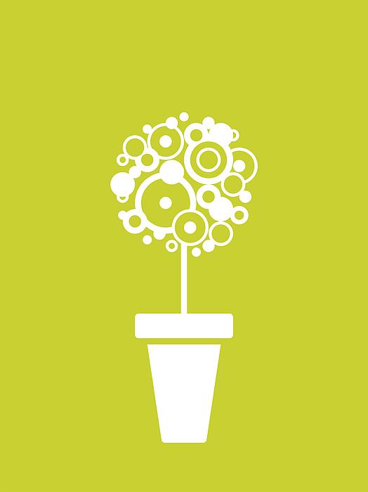 Flower Digital Art - Flower Vase On Kiwi by Flavio Coelho
