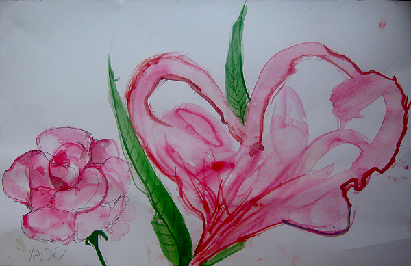 Painting Painting - Flower by Yadu Yadav