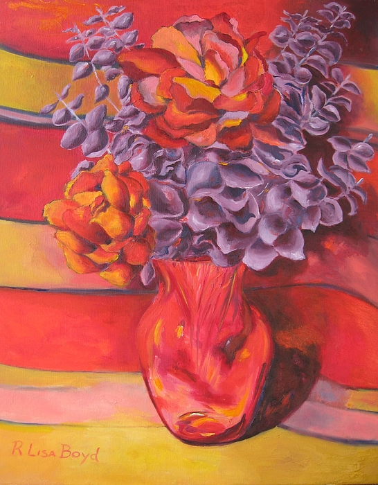 Flowers Painting - Flowering Orange by Lisa Boyd