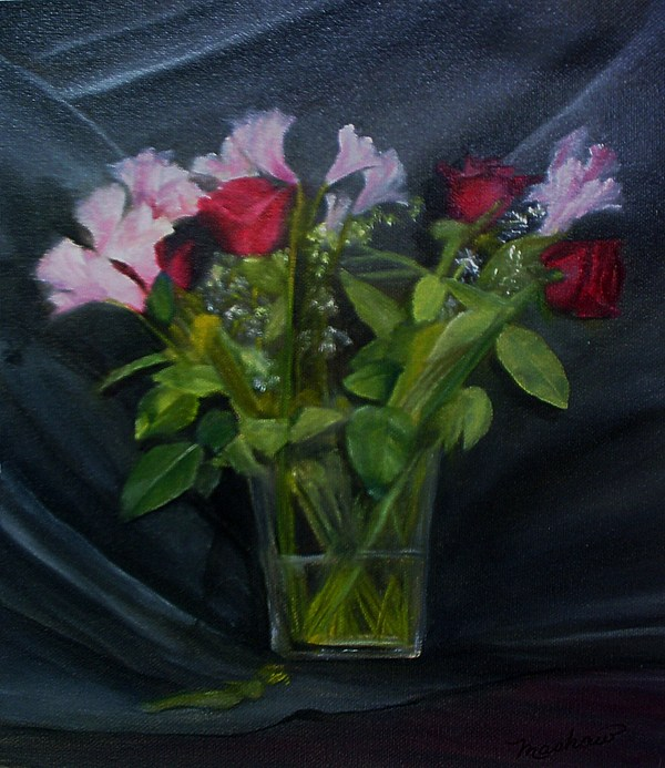 Flowers Painting - Flowers For Sarah by Sheila Mashaw