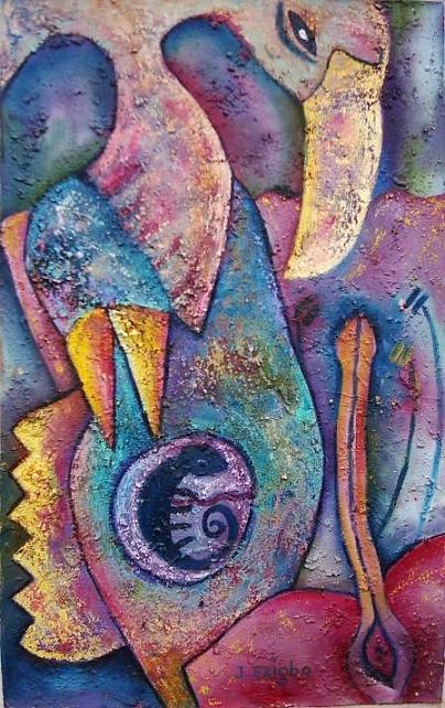 Flowers Painting by Jacob  Wachira Ezigbo
