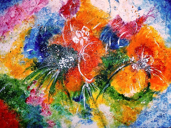 Flowers Mixed Media - Flowers by Jyoti Kalra