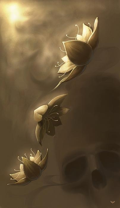 Flowers Digital Art by MOTH Simeonov