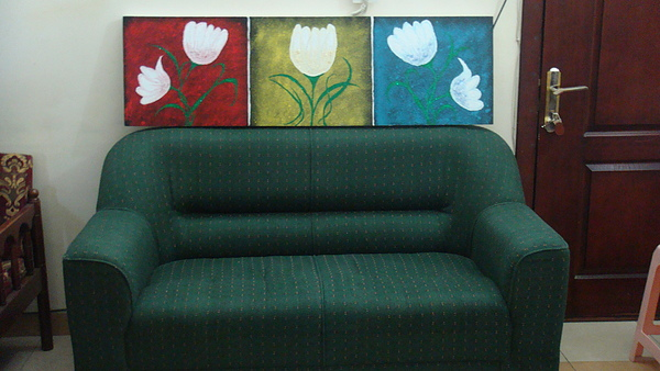 Flowers Painting by Samantha  Dsouza