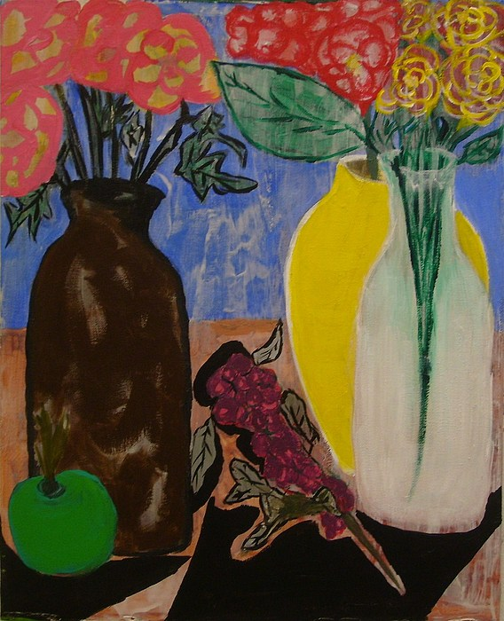 Roses Flowers Painting - Flowers by Yetha Lumumba