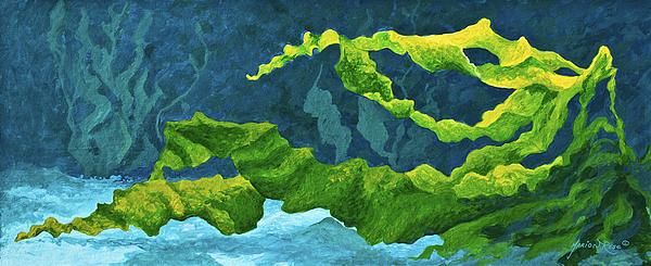 Ocean Painting - Flowing Kelp by Marion Rose