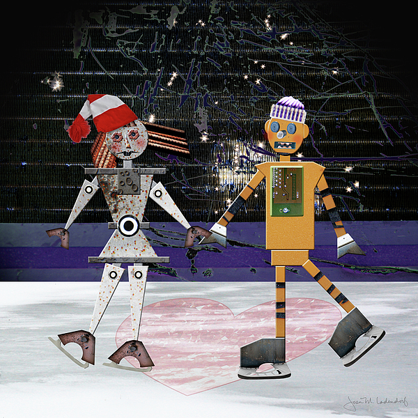 Robot Photograph - Floyd And Zoes Skate Date by Joan Ladendorf