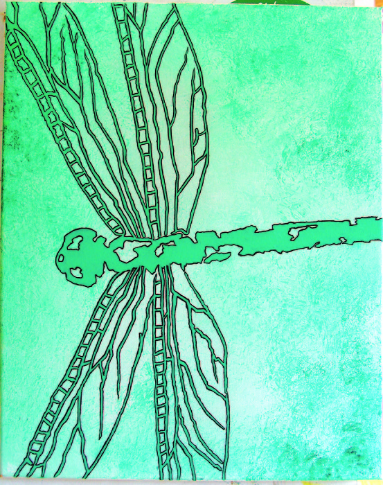 Green Dragonfly Painting - Fly To Me by Michael DeMusz