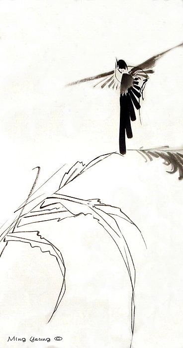 Chinese Painting Painting - Flying High by Ming Yeung