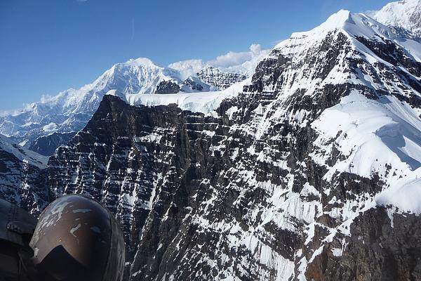 Mt. Mckinley Photograph - Flying Thru The Great Gorge by Joel Deutsch