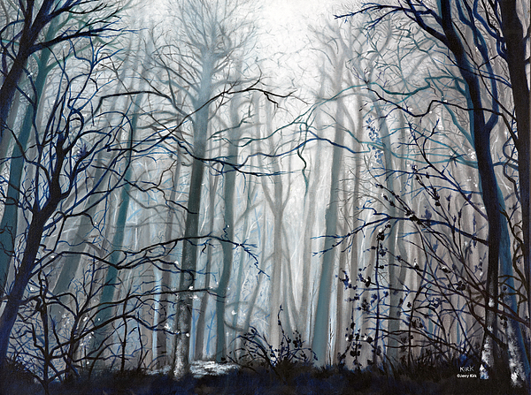 Woods Painting - Fog Descending by Jerry Kirk