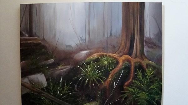 Fog Painting - Foggy Fern by Kim Estes