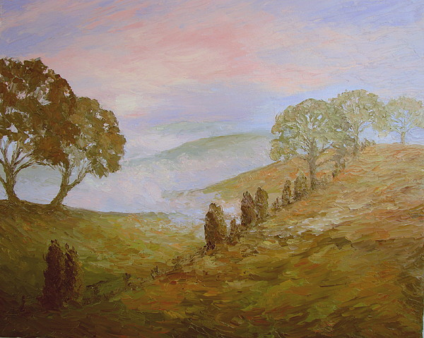Landscape Painting - Foggy Morning by Stephen Howell