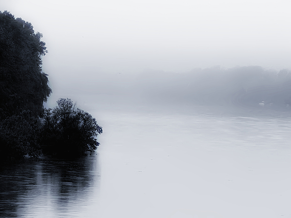 Foggy Photograph - Foggy River by Bill Cannon