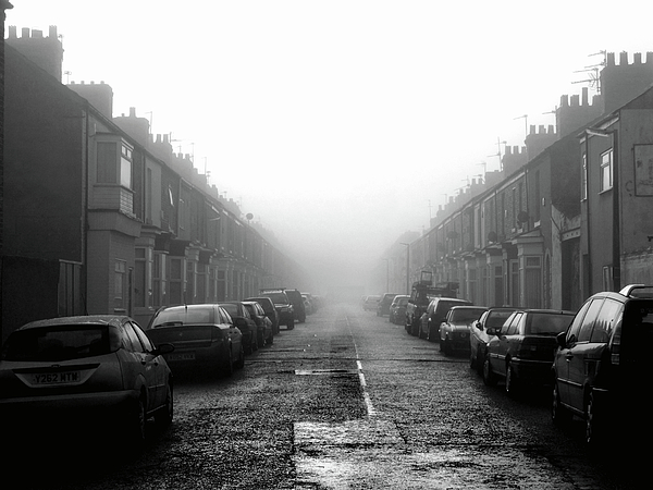 Horizontal Photograph - Foggy Terrace by Paul Downing