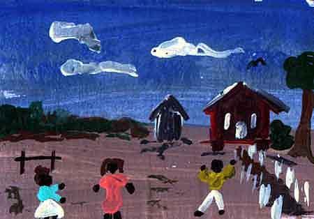 folk art III Painting by Jon Noah