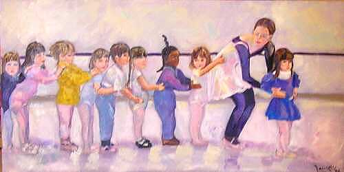Ballet Painting - Follow Me by Laura Forst