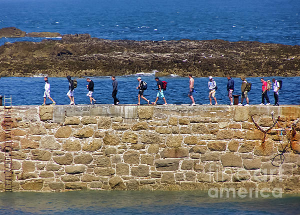 Cornwall Photograph - Follow The Yellow Brick Road by Terri Waters