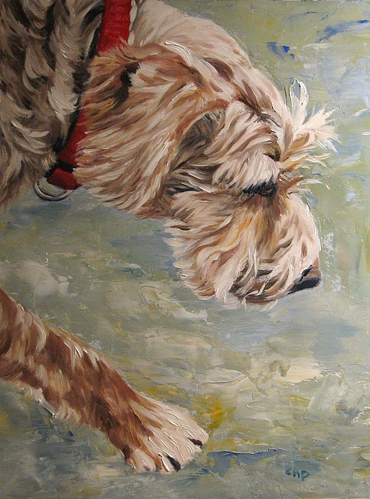 Dog Painting - Follow Your Nose by Cheryl Pass