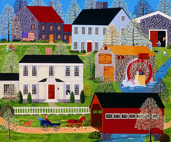Landscape Painting - Followin Mama by Susan Henke