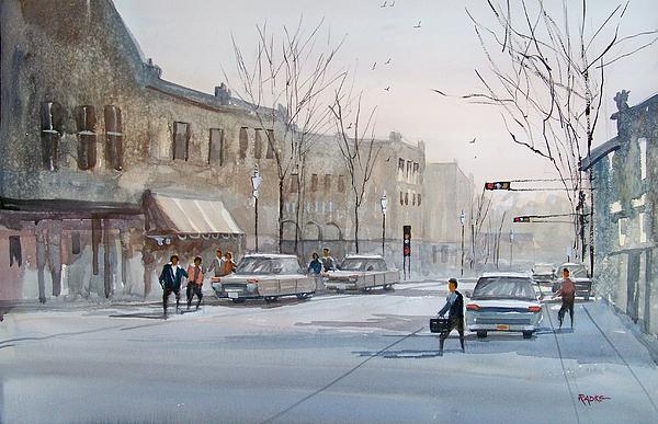Ryan Radke Painting - Fond Du Lac - Downtown by Ryan Radke
