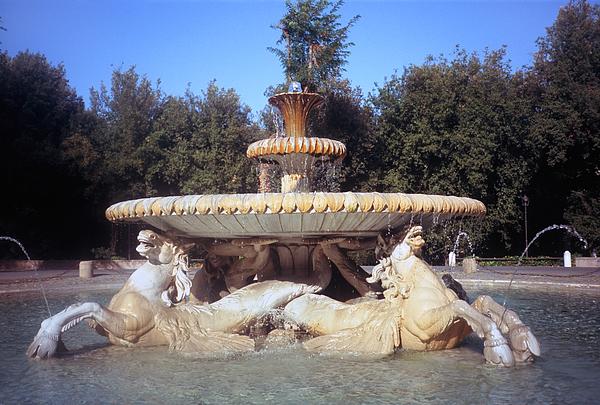 Villa Photograph - Fontana Dei Cavalli Marini  by Fabrizio Ruggeri
