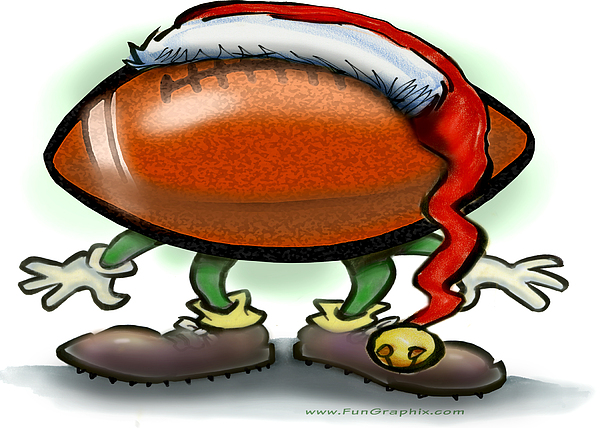 Football Greeting Card - Football Christmas by Kevin Middleton