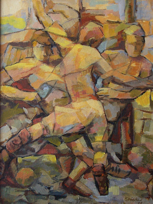 Football Player Painting - Football Player by Alfons Niex