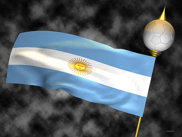 Fifa Photograph - Football World Cup Cheer Series - Argentina by Ganesh Barad