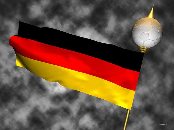 Fifa Photograph - Football World Cup Cheer Series - Germany by Ganesh Barad
