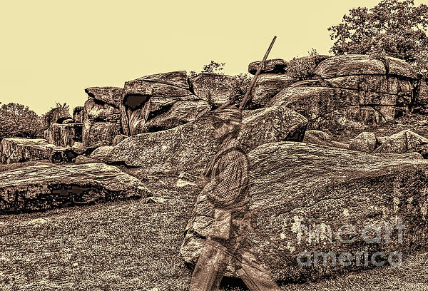 Gettysburg Photograph - For Ever Watch At Devils Den by Tommy Anderson