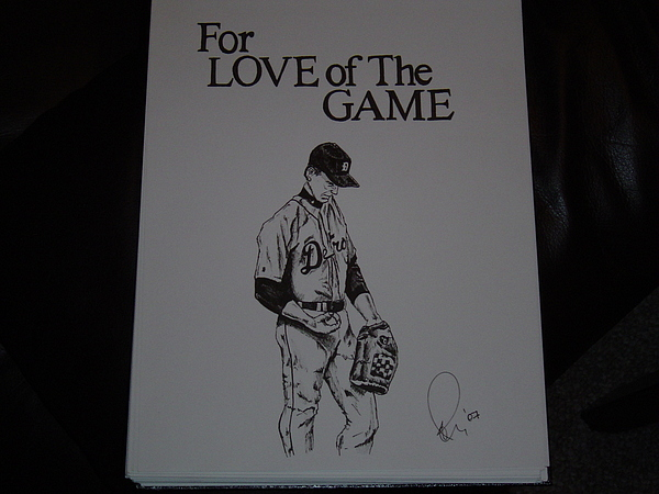 Ink Drawing - For Love Of The Game by Raymond Nash