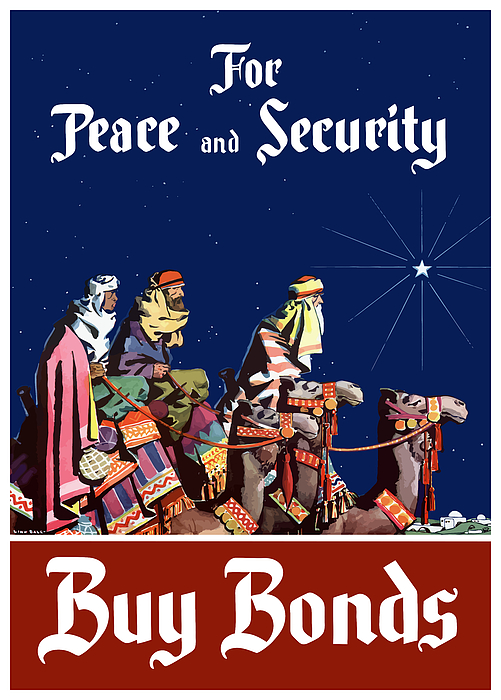 Three Wise Men Painting - For Peace And Security - Buy Bonds by War Is Hell Store