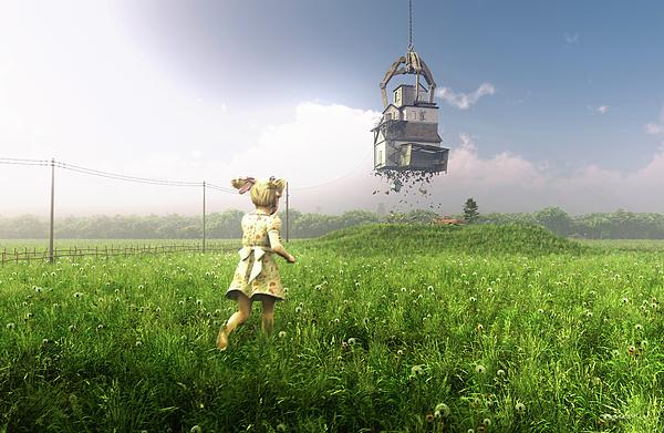 Farm Digital Art - Foreclosure by Cynthia Decker
