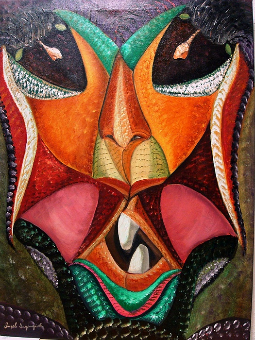 Foreign Face Painting by Angelo Ingargiola