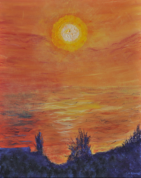 Forest Fire At Night  Painting by Cathy Renoe