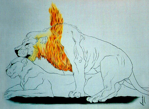 Animals Painting - Forest Fire by Fauna Bose