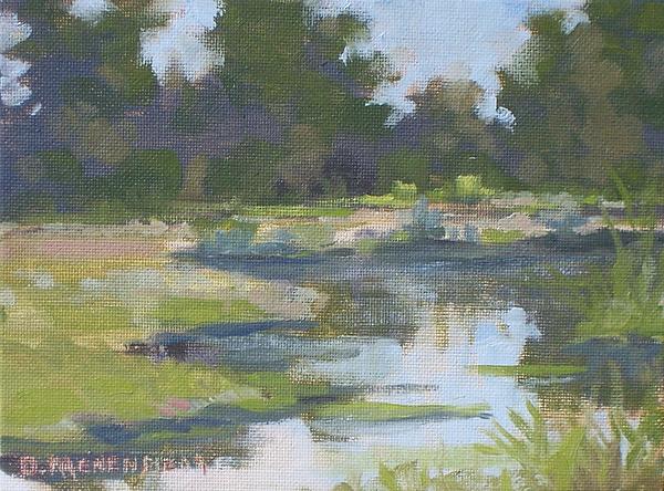 Landscape Painting - Forest Park Canal. by David Menendez