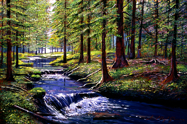 Forests Painting - Forest Waters by David Lloyd Glover