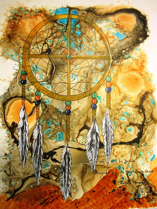 Native American Indian Painting - Forever by David Raderstorf