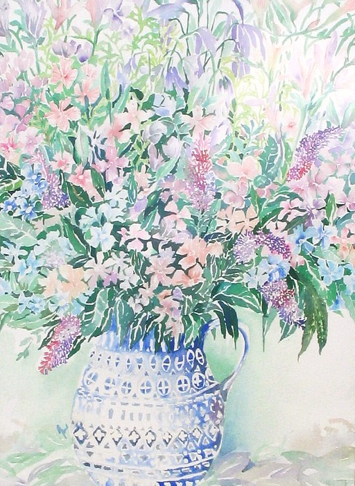 Forget-me-nots Painting by June OConnell